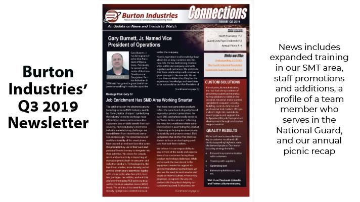Burton Q3 2019 Newsletter